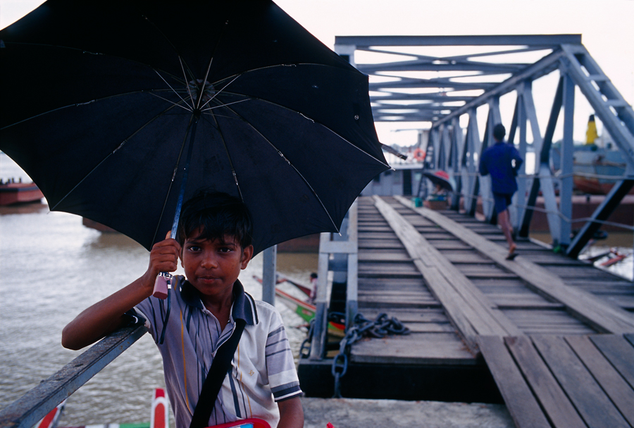 A Indian Boy In the rain