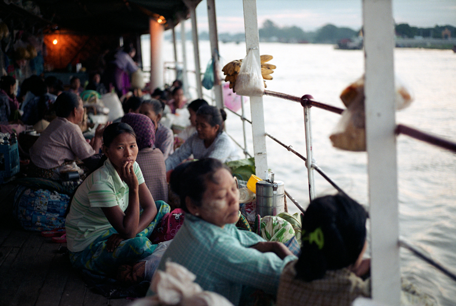 A woman on the boat to Bagan