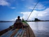 A Lonely Boatman Under Clear Sky of 'INWA'